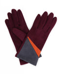 Ziggy Faux Suede Gloves - Plum