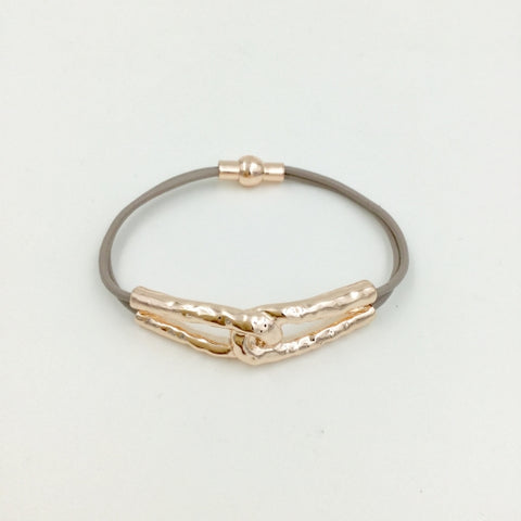 Magnetic Rose Gold Knot Bracelet