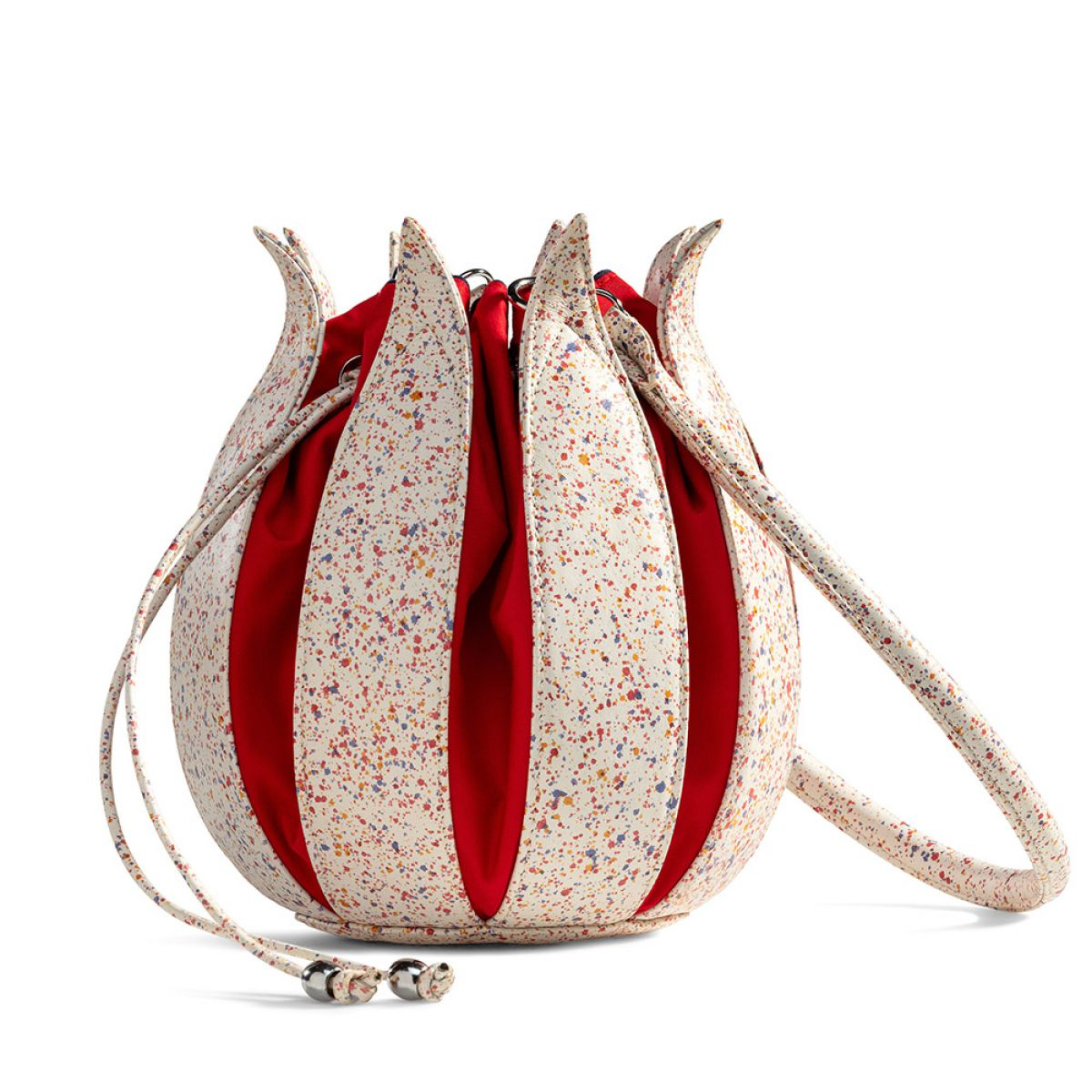 By-Lin Tulip Leather Bag - Splash Classic Red