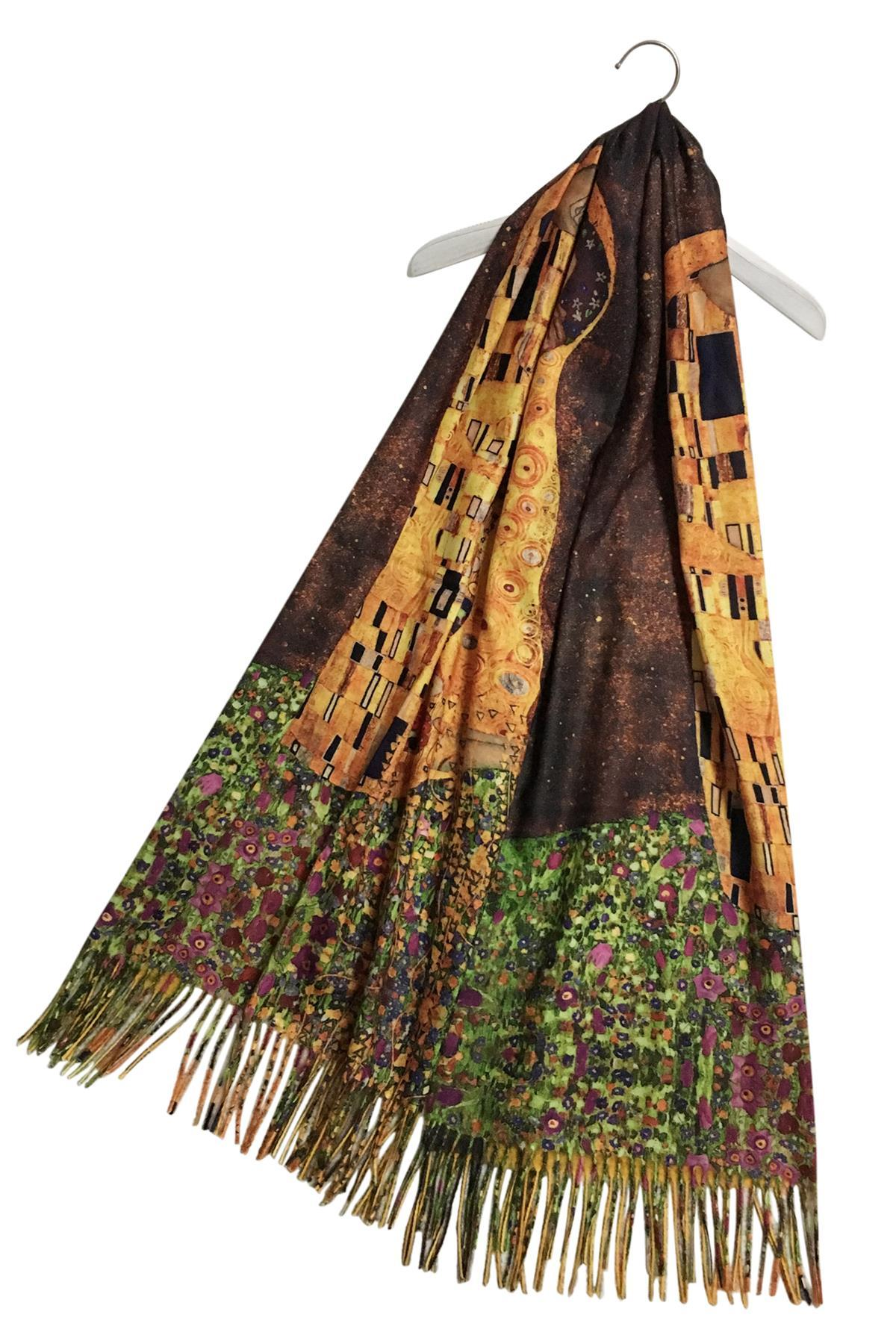 Klimt The Kiss Wool Blend Scarf
