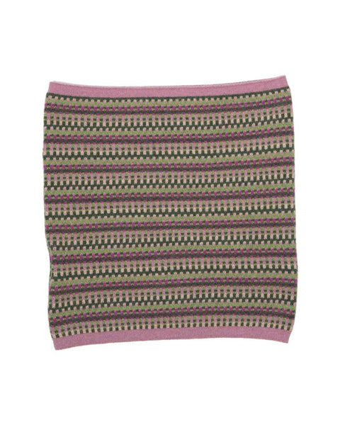 Cashmere Blend Geo Snood - Rose Pink, Verdant Green & Magenta