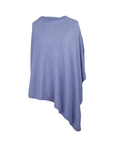 Classic Cashmere Blend Poncho - Lilac