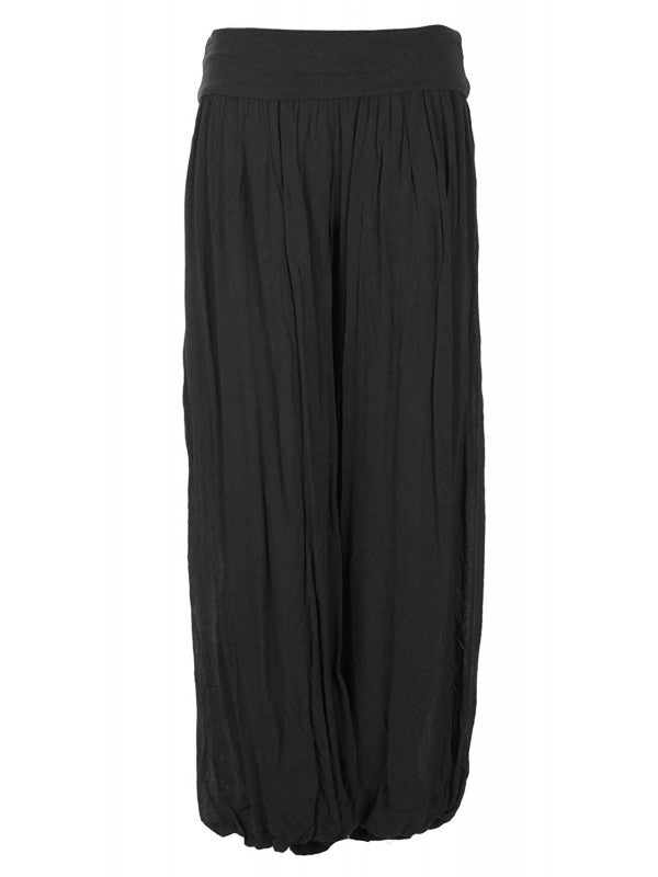 Palazzo Trousers - Black
