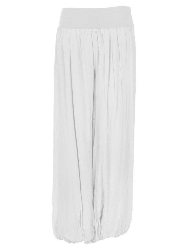 Palazzo Trousers - White