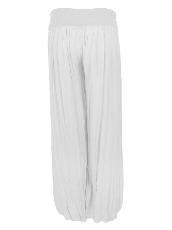 Palazzo Trousers - Silver Grey