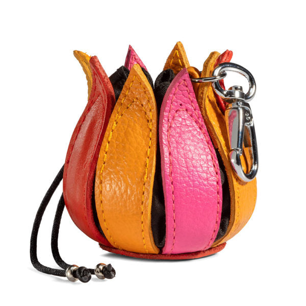 By-Lin Tulip Key ring - Pink/Yellow/Orange