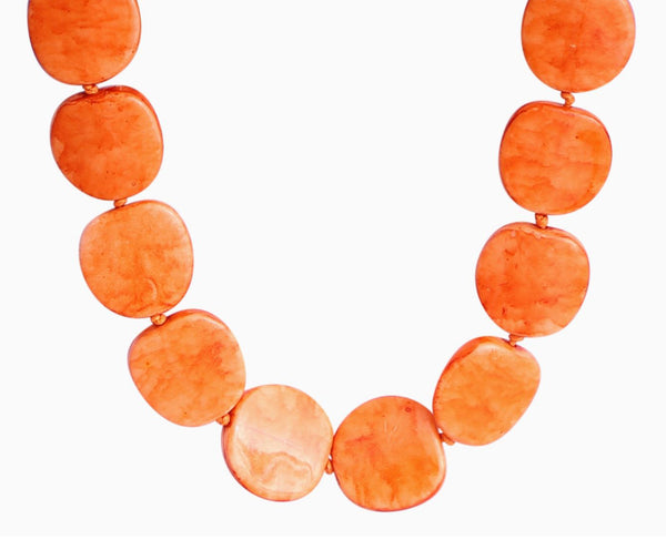 Enhance Riri Necklace -  Orange LARGE Beads