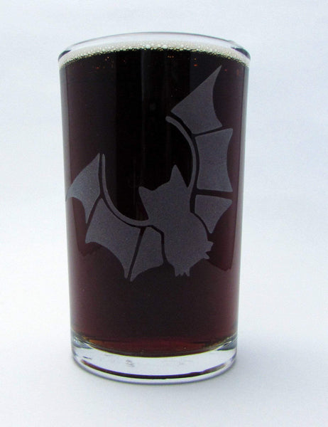 Austin Bat Etched Glassware - Monster Dance Designs  - 2