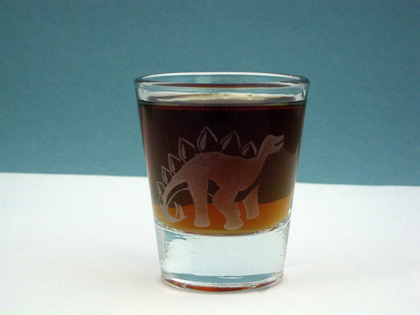 Stegosaurus Etched Glassware - Monster Dance Designs  - 7