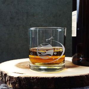 Jupiter Etched Whiskey Glass