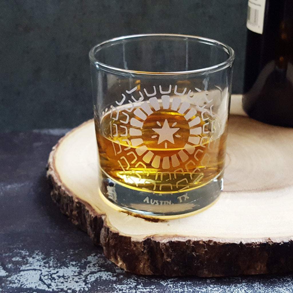 Austin Texas Capital Rotunda | Etched Whiskey Glass | Texas Gift | Made in Texas | Texas Congress