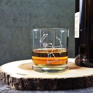 Orion Constellation Etched Whiskey Glass