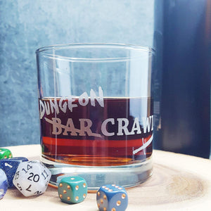 DnD Dungeon Crawl Etched Whiskey Glass