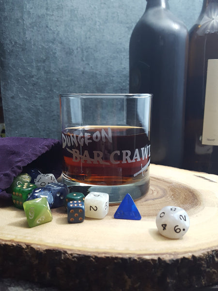 DnD Dungeon Crawl | Etched Whiskey Glass