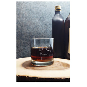 Ursa Major Big Dipper | Etched Whiskey Glass