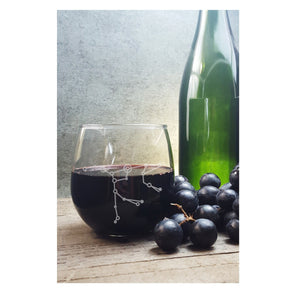 Ursa Major Big Dipper | Etched Stemless Wine Glass