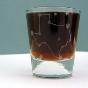 Texas State Map | Etched Shot Glass