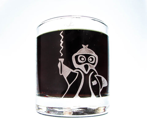 Science Penguin Etched Glassware - Monster Dance Designs  - 1