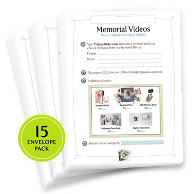 15 FREE Photo Envelopes (Funeral Homes Only)