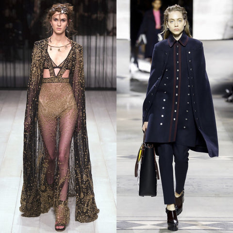 Alexander McQueen and Burberry Capes
