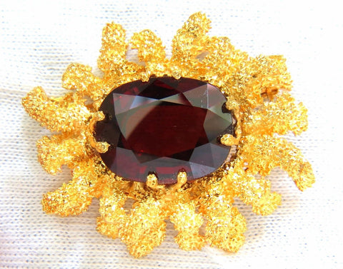 GIA 32.22CT NATURAL SPESSARTITE GARNET 3D OCEAN CORAL / ROUGH NUGGET PIN