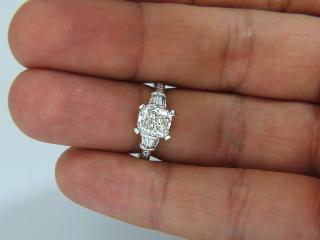 white itm pave ring diamond gold cushion halo ct cut f engagement loading is image