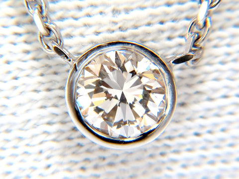 .54ct natural round brilliant diamond solitaire necklace i/vs2 16 inch 14k