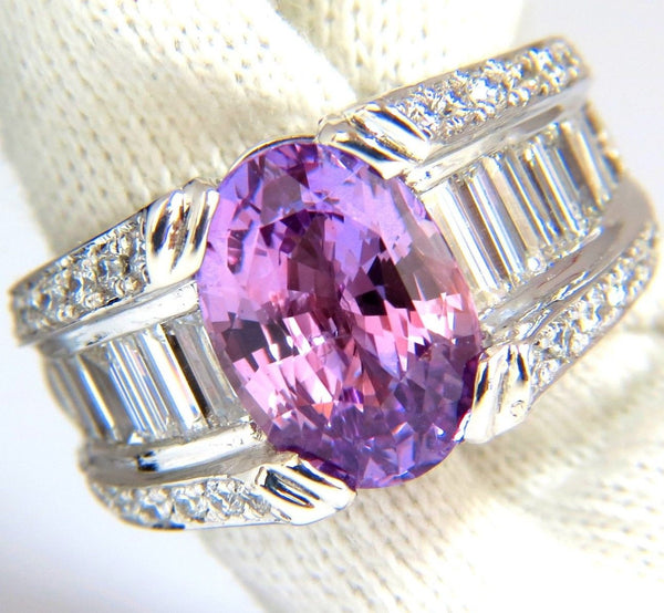 GIA 8.50ct natural no heat sapphire diamond ring 14kt. unheated purple pink $36K