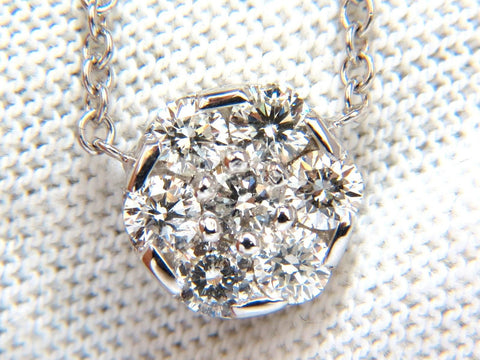 1.00ct (7) Diamond cluster necklace g/vs 14kt. 18 inch