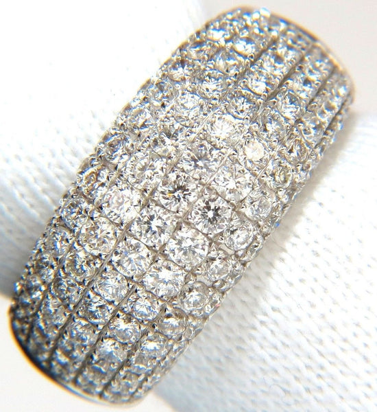 2.77CT FULL CUT DIAMONDS BEAD SET WIDE BAND RING 18KT 10MM SIZE 6.75