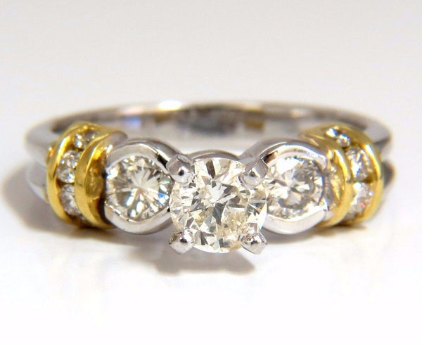 .75CT CLASSIC TRADITIONAL DIAMOND RING 14KT GOLDEN SHOULDERS