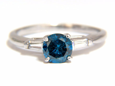 1.02CT METALLIC BLUE DIAMOND RING 14KT