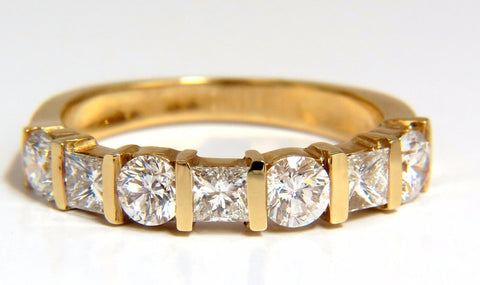 1.40ct DIAMONDS PRINCESS ROUNDS CHANNEL BAND 14KT G.VS