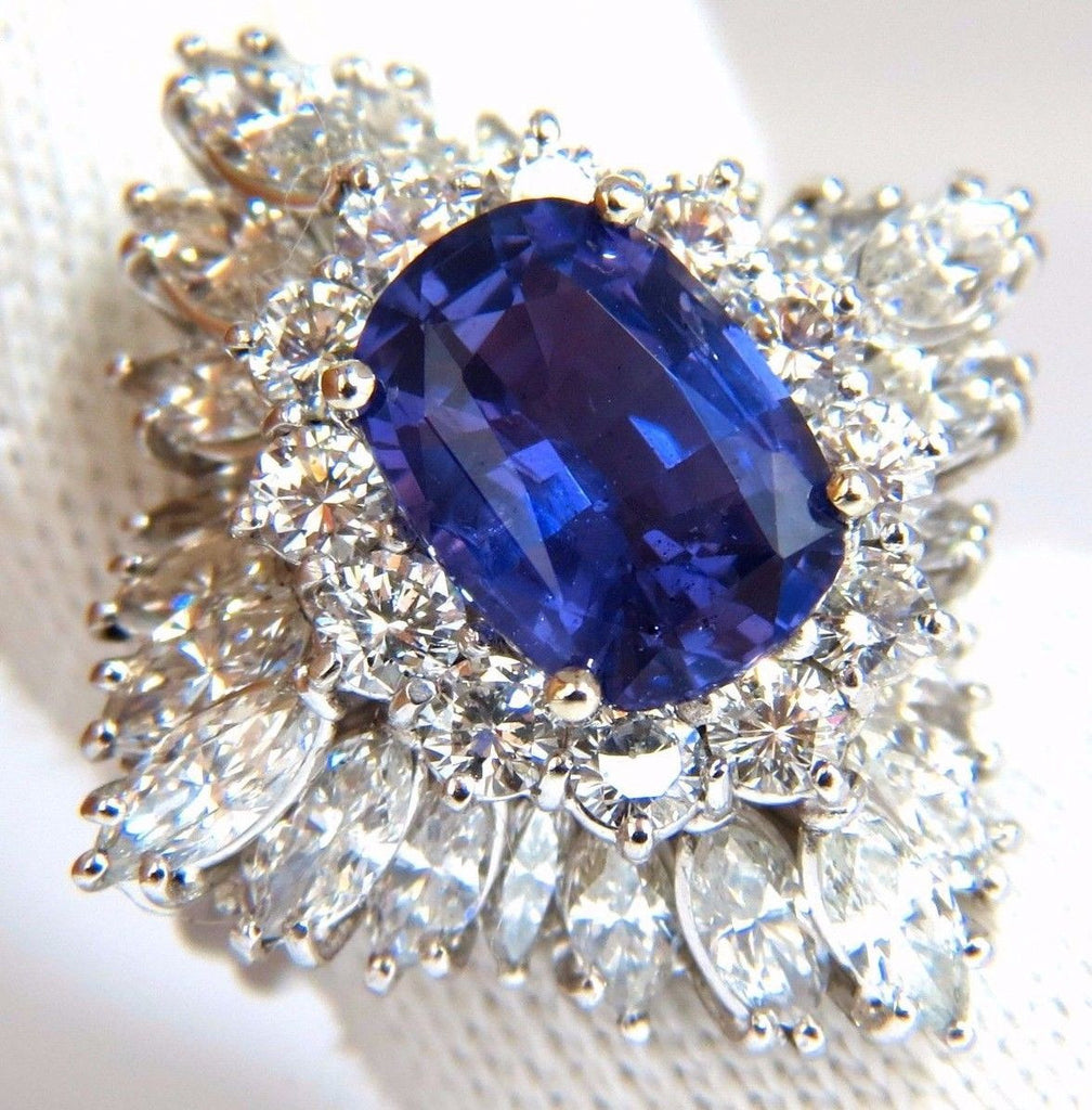 ceylon pin item antique sapphire deco diamond no earrings heat drop platinum