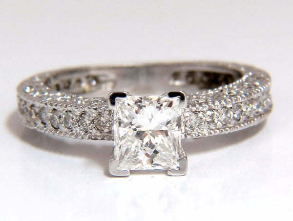 1.01ct Natural Princess cut diamond ring 14kt.