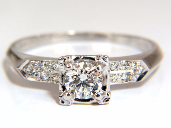 .67ct natural round diamonds vintage raised deck ring 14kt