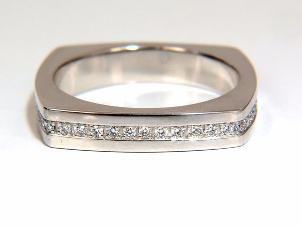 .25ct natural round cut diamonds mens band platinum mod square form