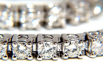 3.70CT NATURAL DIAMONDS CLASSIC TENNIS BRACELET 14KT G/SI-1