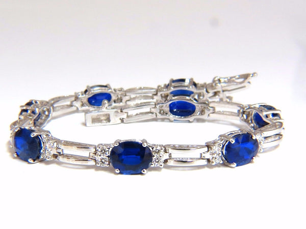 13.36ct natural blue kyanite diamonds tennis bracelet 14kt