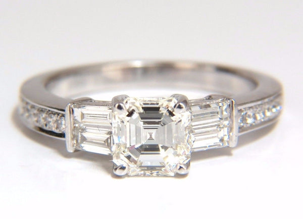 GIA Certified 1.62ct natural asscher diamond ring engagement classic 18kt
