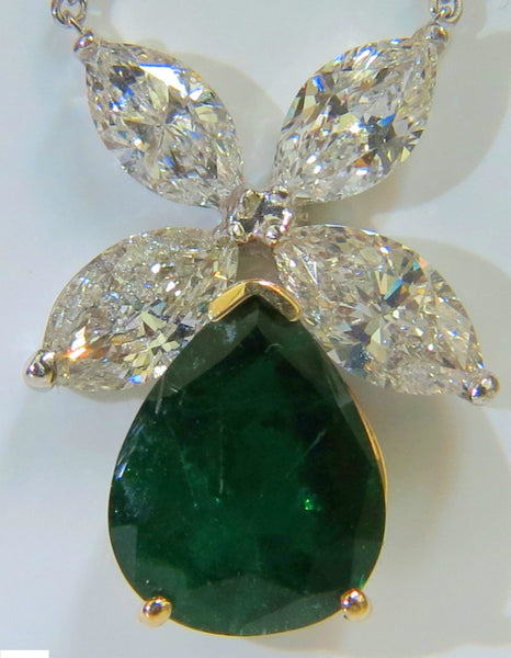 8.31CT NATURAL DIAMOND EMERALD PENDANT STAR