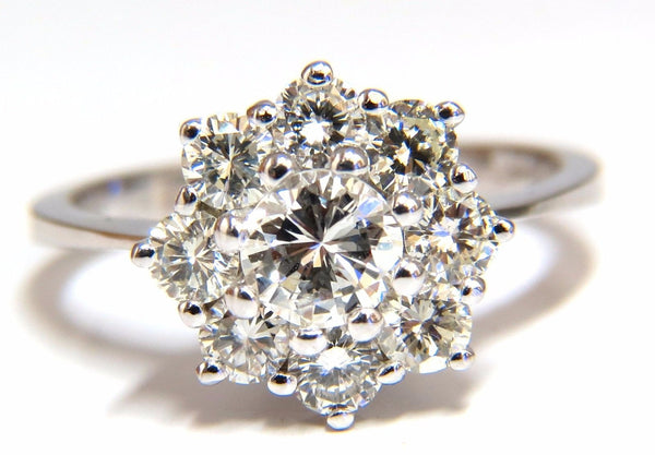 1.40ct diamonds raised cluster ring 14kt