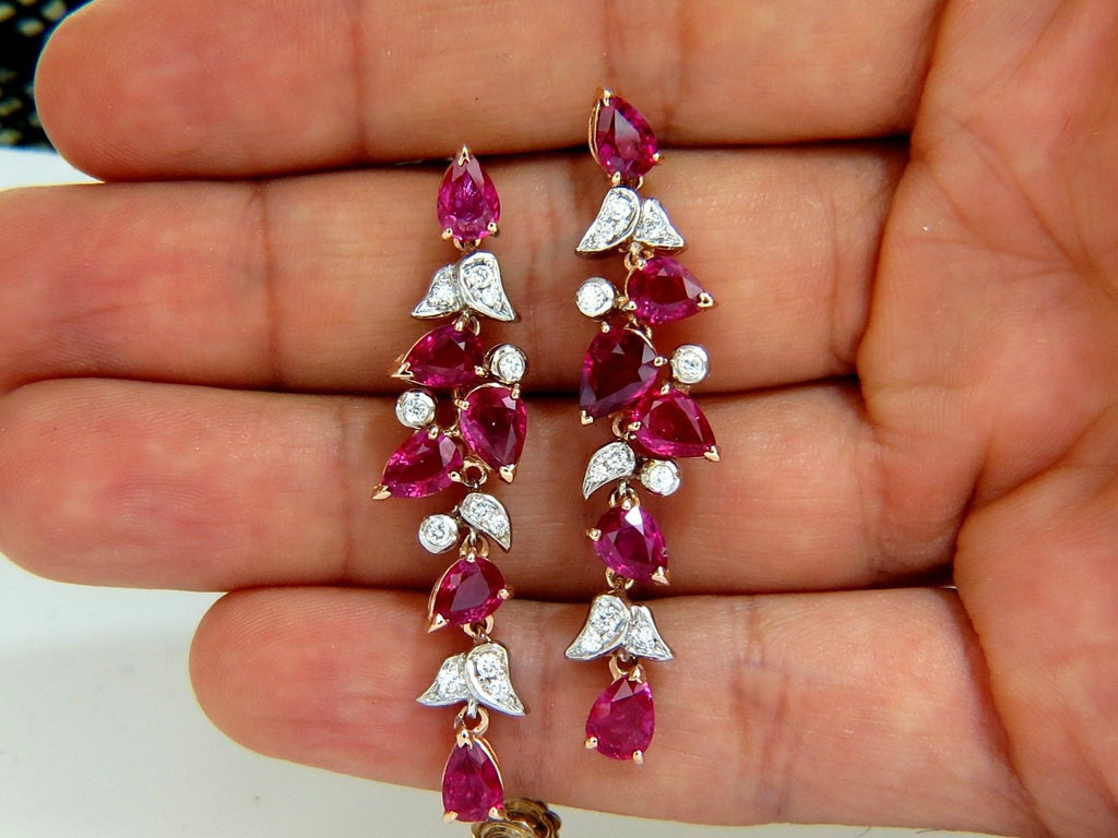 yellow ruby earrings stud diamond heart gold picture of natural