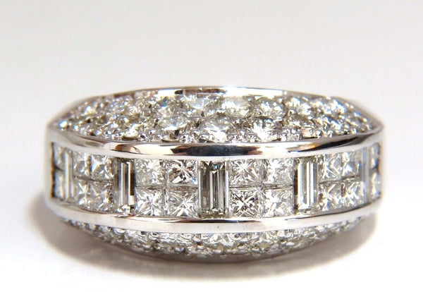 4.00ct diamonds raised contemporary ring three dimensional 18kt