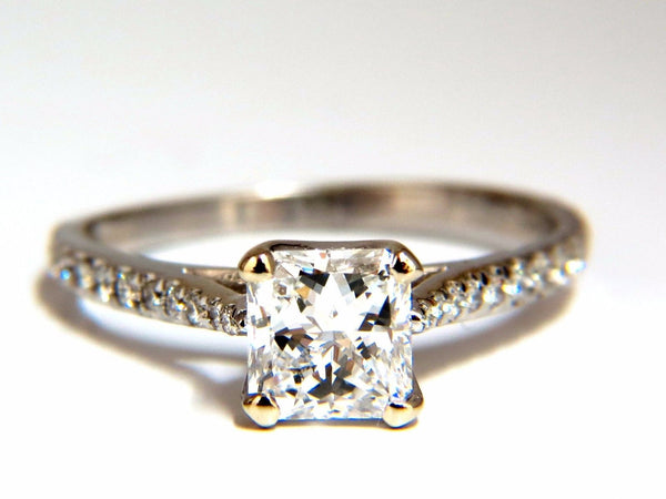 GIA Certified 1.51ct Princess cut diamond ring Cathedral Prime D/VS
