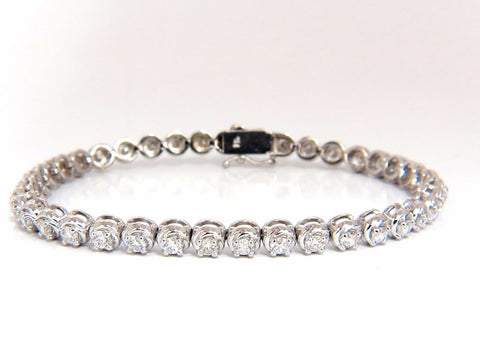 3.50ct natural diamonds tennis bracelet 14kt 7 inch