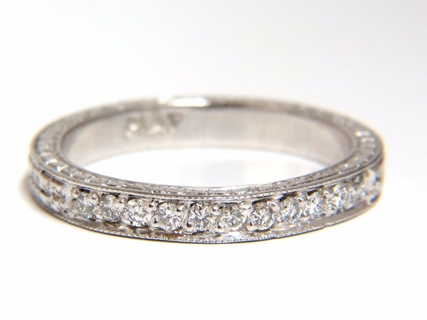 .36ct diamond platinum band Edwardian deco size 7.75