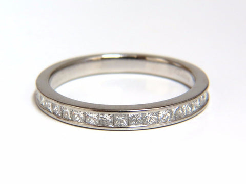 Authentic Asprey .65ct natural princess cut diamonds band