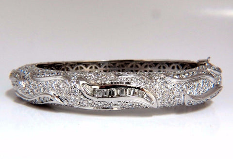 14.02ct natural daimonds eternity encrusted bangle bracelet 18kt