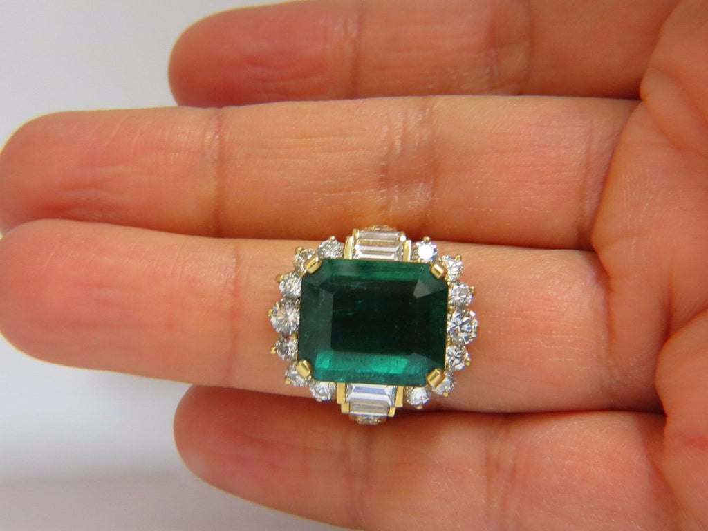 certified natural products gia ring green emerald diamonds